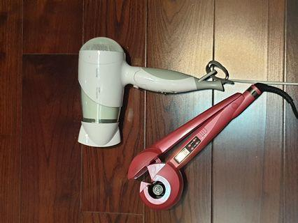 Blow dryer and automatic hair curler