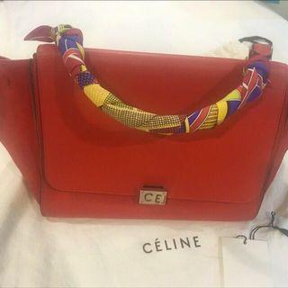 Reduced!!!🔥Authentic Celine Red Trapeze W/ Sling