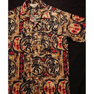 Vintage Aloha Shirt 美式古著 夏日復古風 夏威夷襯衫  花襯衫 民俗風圖騰 HAWAII Shirt