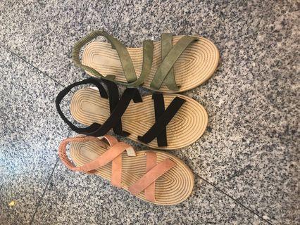 🚚 #女款平底涼鞋 👉👉3色 👍現貨特價$290 ❤️36.37.38.39.40