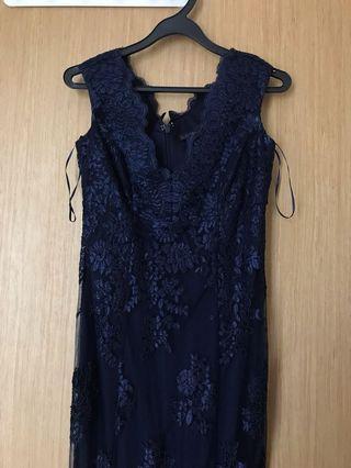 🚚 formal gown purple