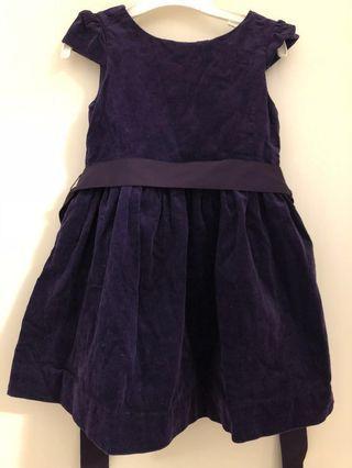 Ralph Lauren purple corduroy dress