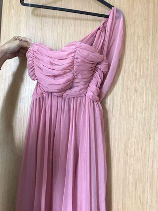 pink dress / gown