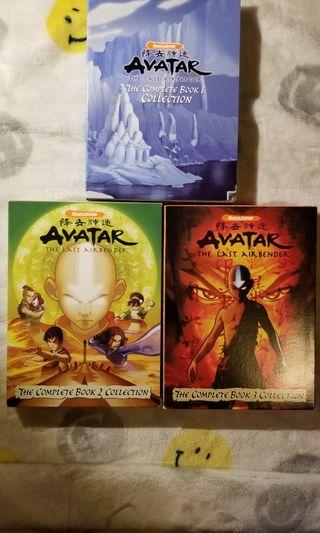 Nickelodeon Avatar The Last Airbender 3 Collectons DVD USA versions (bought from USA) 一手 DVD 美孚地鐵站MTR交收