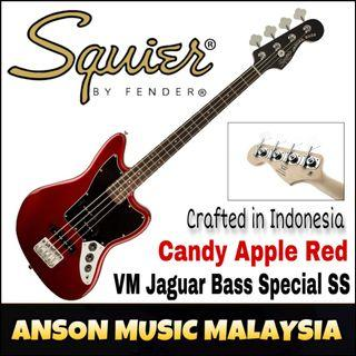 Squier Vintage Modified Jaguar Bass Special SS, Laurel Fingerboard, Candy Apple Red