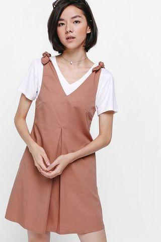 Love Bonito Deleila knotted dress rust