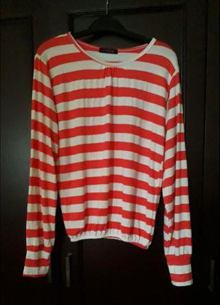 Blouse stripe pinkEmma