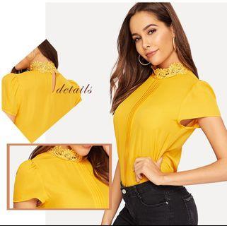 🚚 P2mart ✌🏼✔Pre order stock ✔Ginger Bright Cap Sleeve Womens Tops