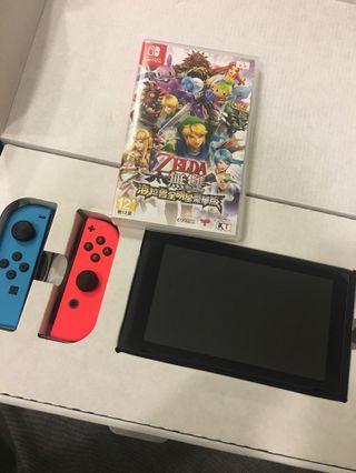 🚚 Switch主機+一片遊戲(薩爾達無雙)