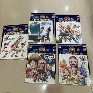 🚚 Good Condition One Piece Kuji 20th Ann Anniversary Shikishi Board Set