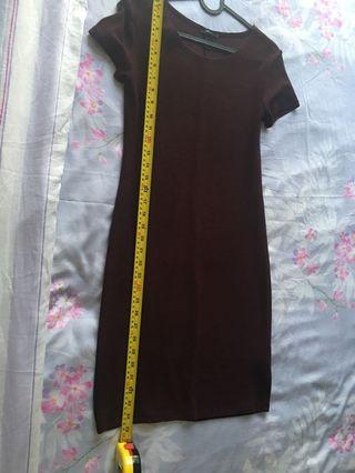 Maroon stretchable dress - Forever 21