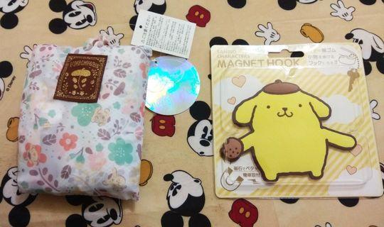 日本限定 布甸狗 布丁狗 Pompompurin 磁石掛小物鈎 旅行收納袋
