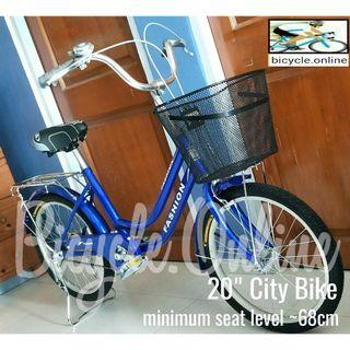 """20"""" City Bike * Low frame, low seat(min.68cm) * Good and safe for short riders and elderly * Brand new bicycle"""