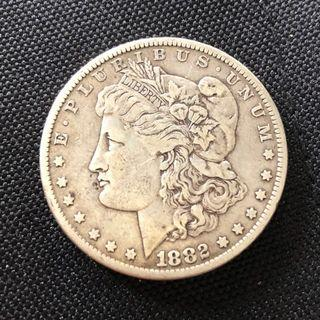 1882 US Morgan Silver Dollar