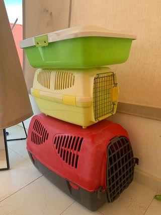 Litter Box + Pet Cage/Carrier for Cat or Dog
