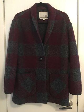 Aritzia Wilfred Free Neelam Coat | Burgundy, XS