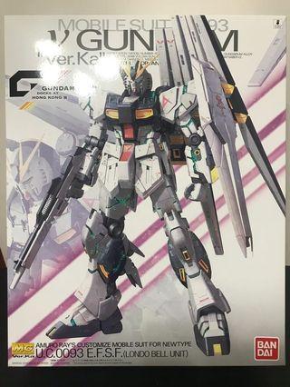 MG 1/100 νGUNDAM Nu Gundam Ver.Ka (GDHKⅢ LIMITED) 彩透