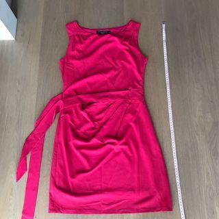 Pandora box pink tie dress