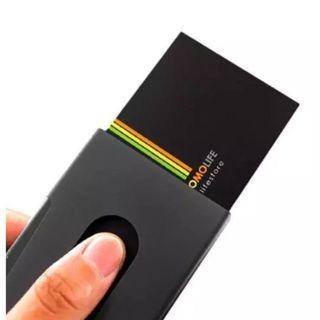 Black Business Card holder push (hole to push)