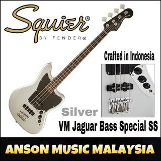 Squier Vintage Modified Jaguar Bass Special SS, Laurel Fingerboard, Silver
