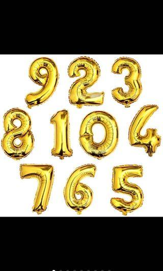 "Birthday Balloon Number Big Size 32"""