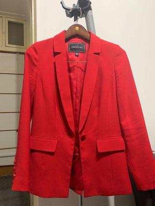 Forever new red blazer (Size 4)