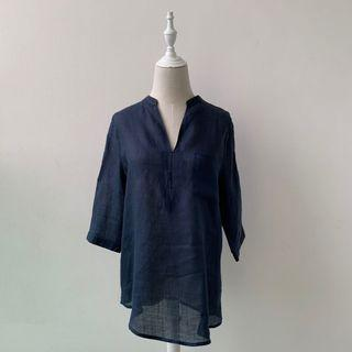 (Pre loved) price reduced - Navy see-through linen shirts