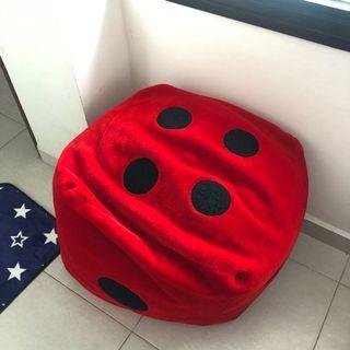 🚚 Red dice bean bag