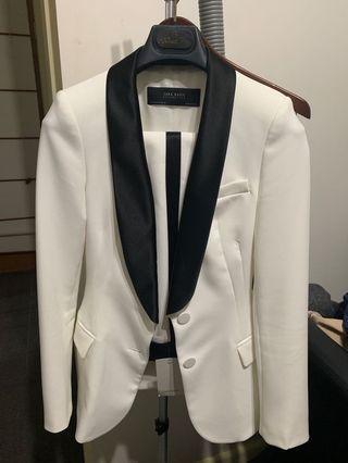 Zara white tux set XS