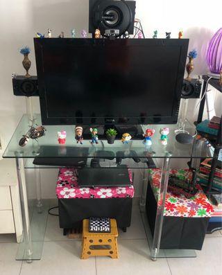 🚚 Temper glass tv table multi level
