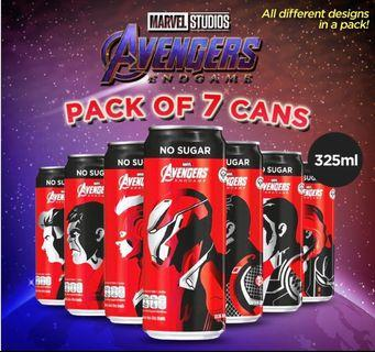 Avengers Endgame Coke 7 Designs Collector Set