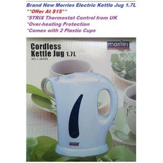 Sales! New 1.7L Morries electric Kettle