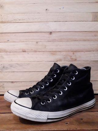 converse hi leather bw