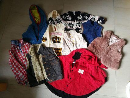 Bundle of 9 warm clothes