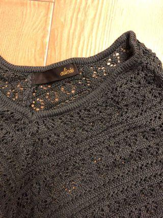 Alices dark grey knitted cape from Japan