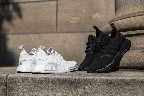 Adidas NMD R1 Primeknit Japan Triple Black & Triple White