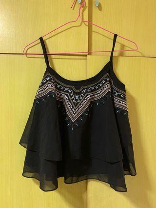 Black Aztec Top