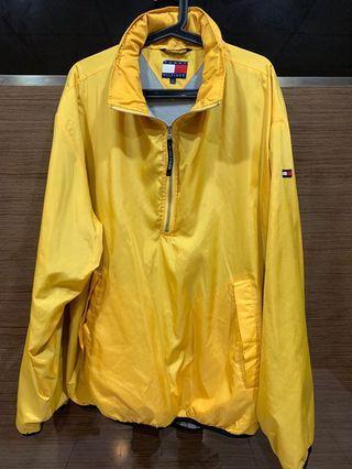 老品 Tommy Hilfiger Outdoor Jackets 衝鋒 夾克 黃色 帽子可收