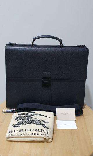 Burberry Mens Leather Briefcase