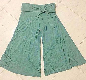 Brand New With Tag Unique Side Tie Wide Leg Culotte Pants