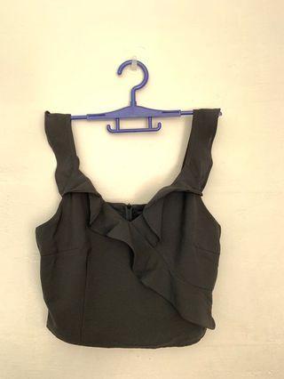 Shopsassydream Black Crop Top