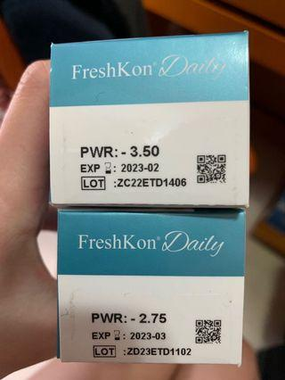 One Day freshkon daily 58%water content 2.75+3.50