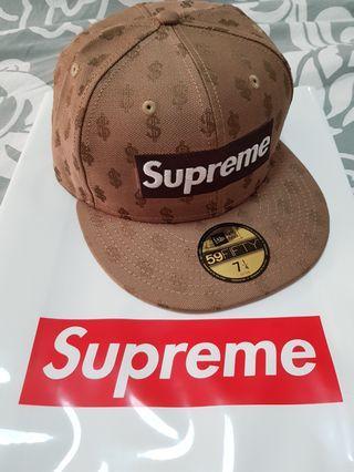 85f3a8c3784 BN Supreme Brown Monogram Box Logo New Era cap 7 1 4   170