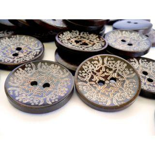 WB10172 - 30mm Crafted Wood Buttons, Wooden Buttons (10 pieces)   #craft