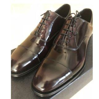 Men's Prada Brushed Leather Oxford Shoes New + 100% Authentic Size 6