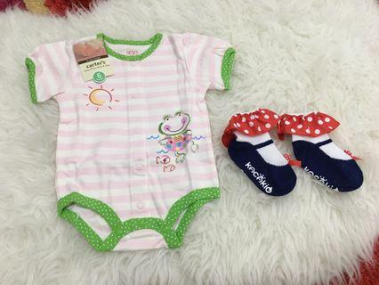 Baby romper and socks size 6 months