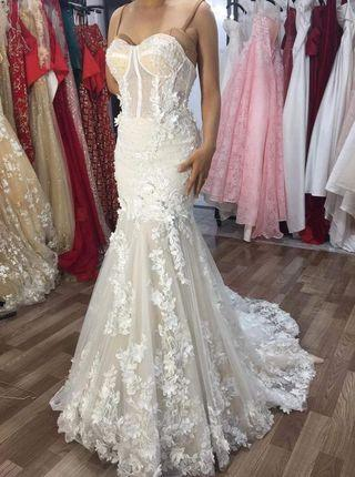 Berta Inspired Lace Mermaid Wedding Gown for RENT