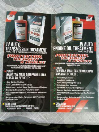 Engine/Gearbox/injector oil treatment