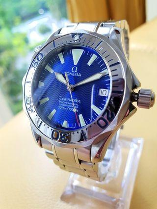 Omega Seamaster Electric Blue Wave Dial 36mm Automatic Steel