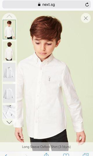 🚚 #EndGameYourAccess 9-10 yo White Long sleeve shirt